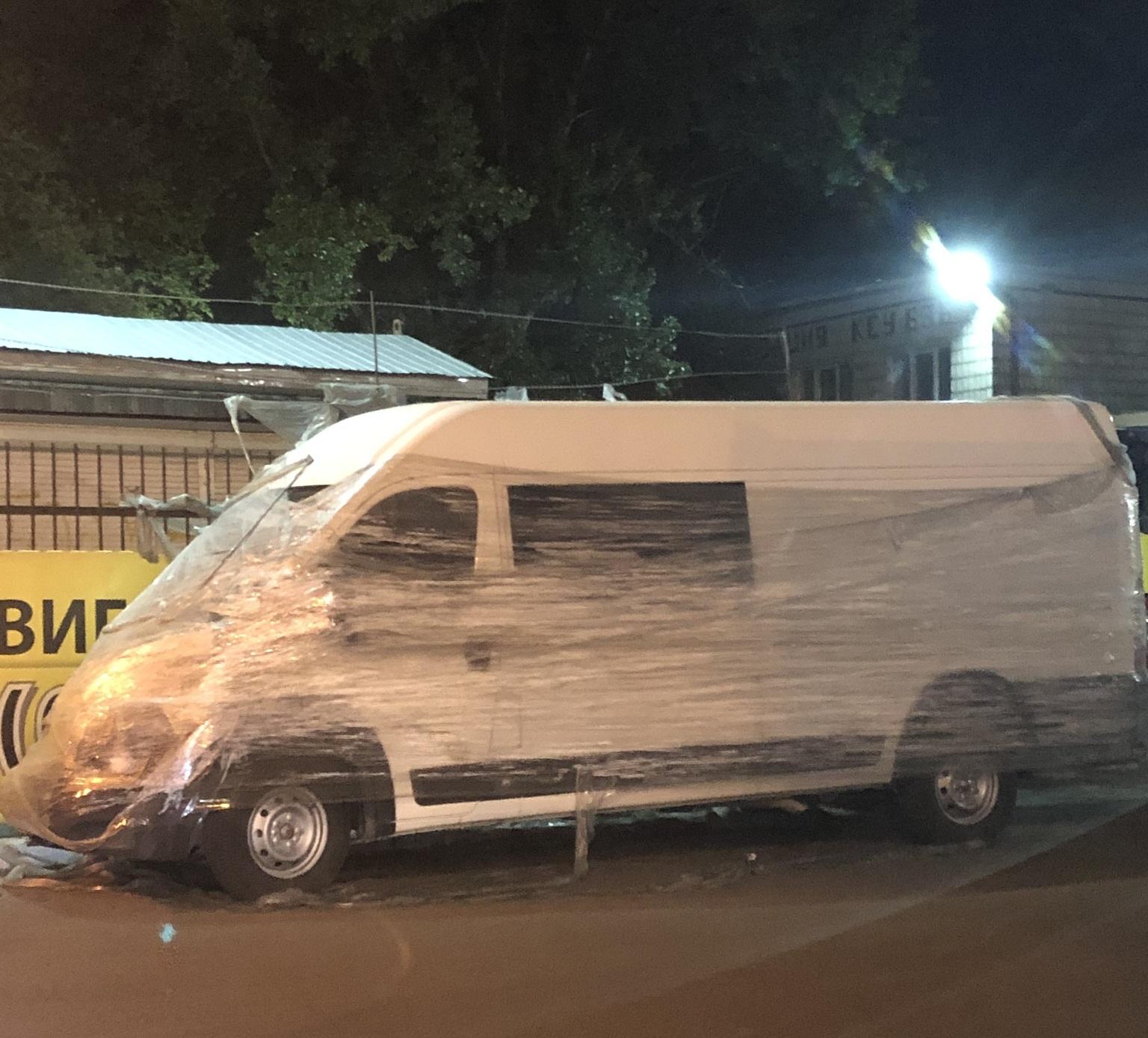 В Киеве очень оригинально наказали героя парковки