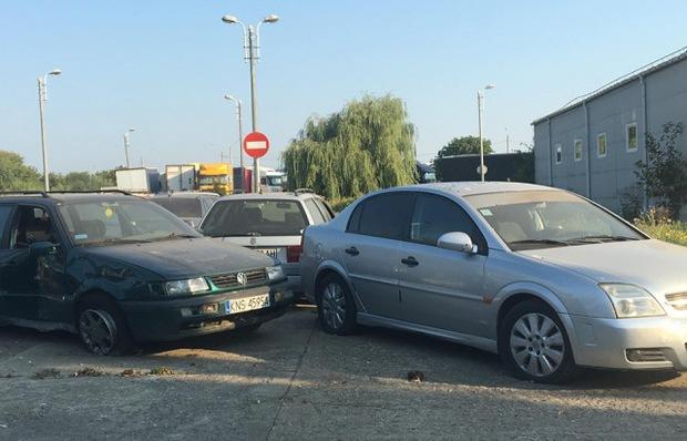 В Украине обнаружено кладбище авто на еврономерах