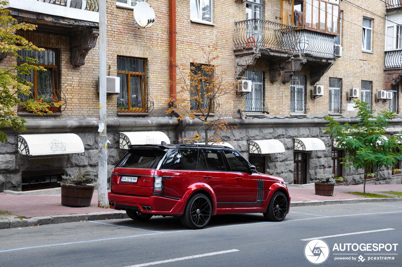 В Украине засветился самый заряженный Range Rover в тюнинге Lumma