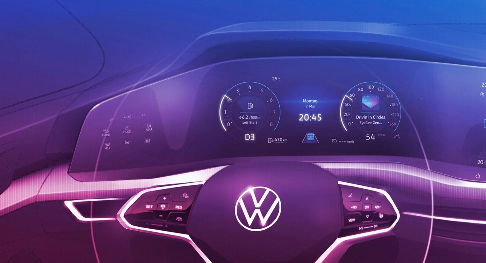 Первые официальные изображения нового Volkswagen Golf 8 2020