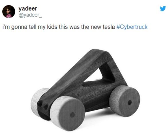 Новый пикап Tesla Cybertruck породил смешные фотожабы