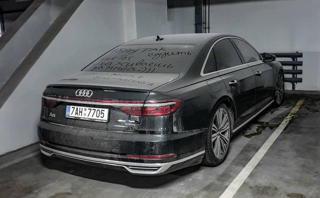На киевском паркинге обнаружили заброшенной новейшую Audi A8