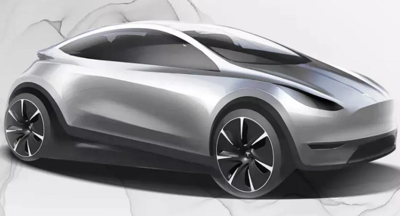 Первое изображение конкурента Nissan Leaf от Tesla