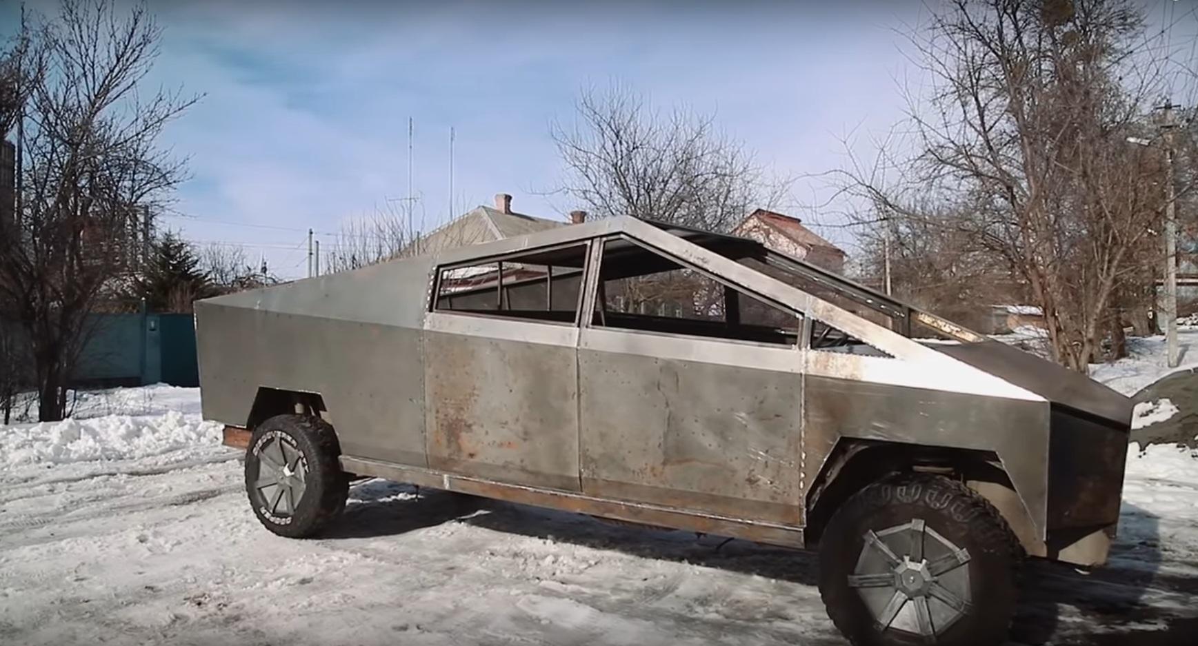 Украинцы создают копию пикапа Tesla Cybertruck (видео)