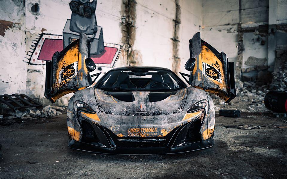 В Чернобыле засветился уникальный тюнингованный суперкар McLaren