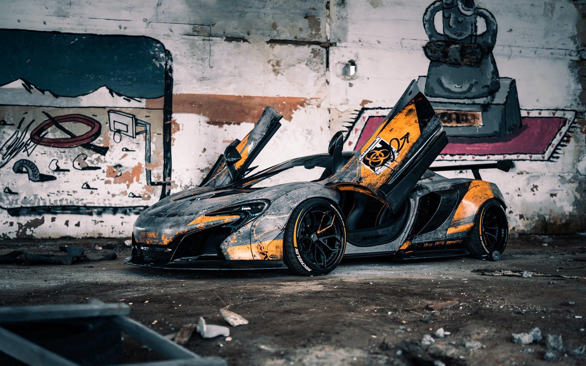 Уникальный тюнингованный суперкар McLaren посвятили Чернобылю