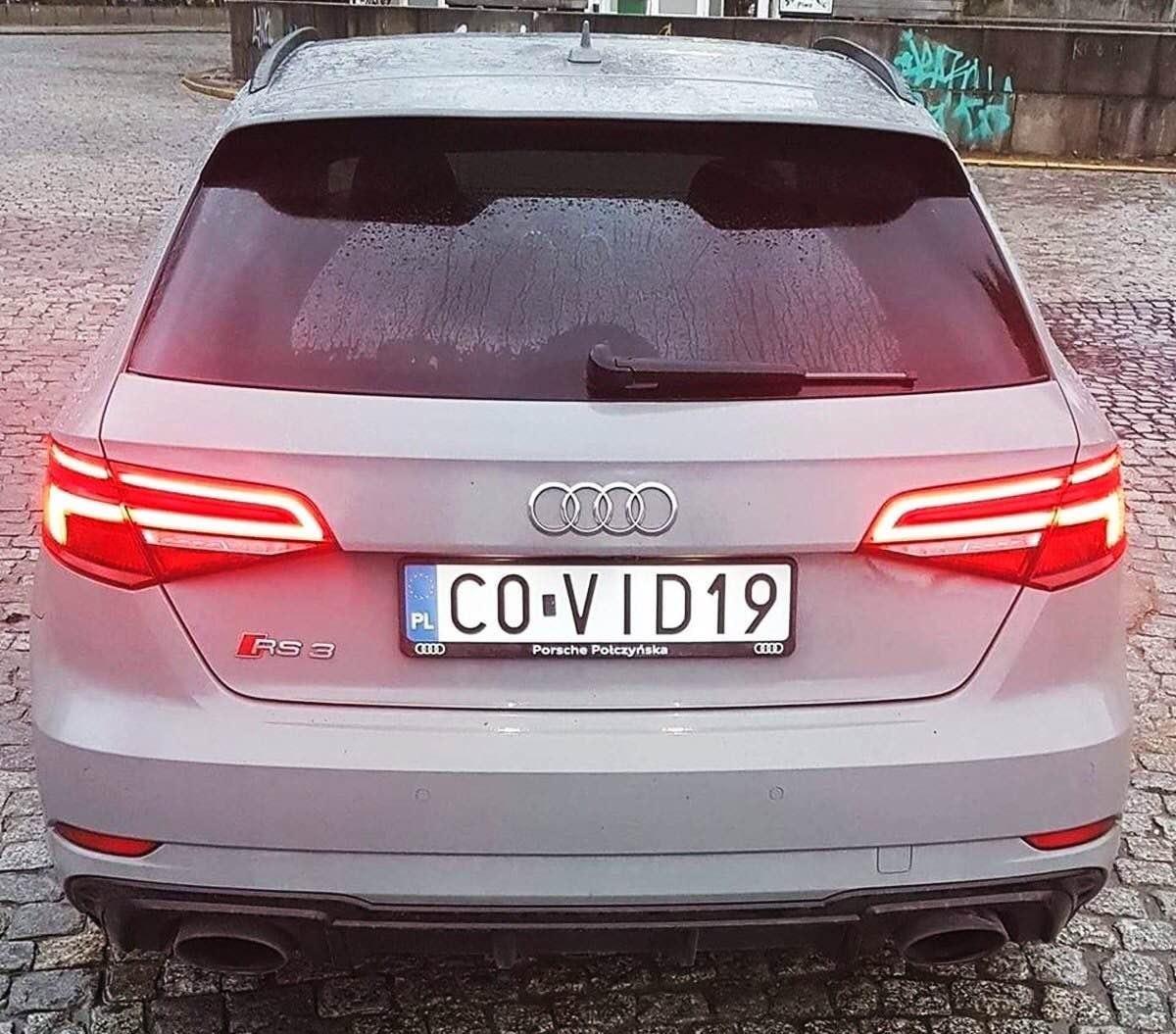 Новость одной картинкой: первый авто на «коронавирусных» номерах