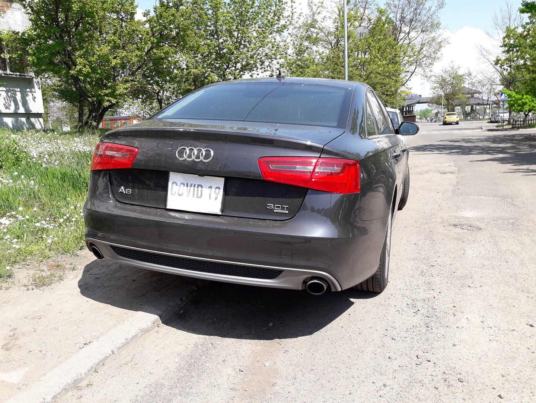 Новость одной картинкой: первая Audi на карантинных номерах в Украине