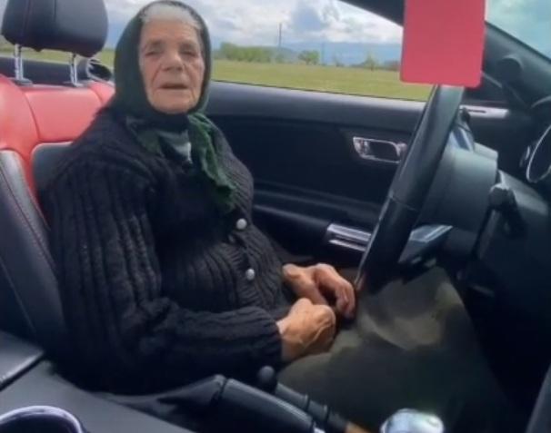 Украинская пенсионерка показала эффектный дрифт на Мустанге (видео)