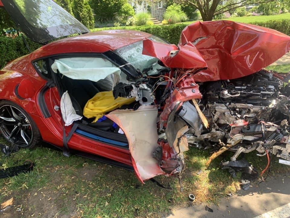 Новую Toyota Supra разбили во время тест-драйва
