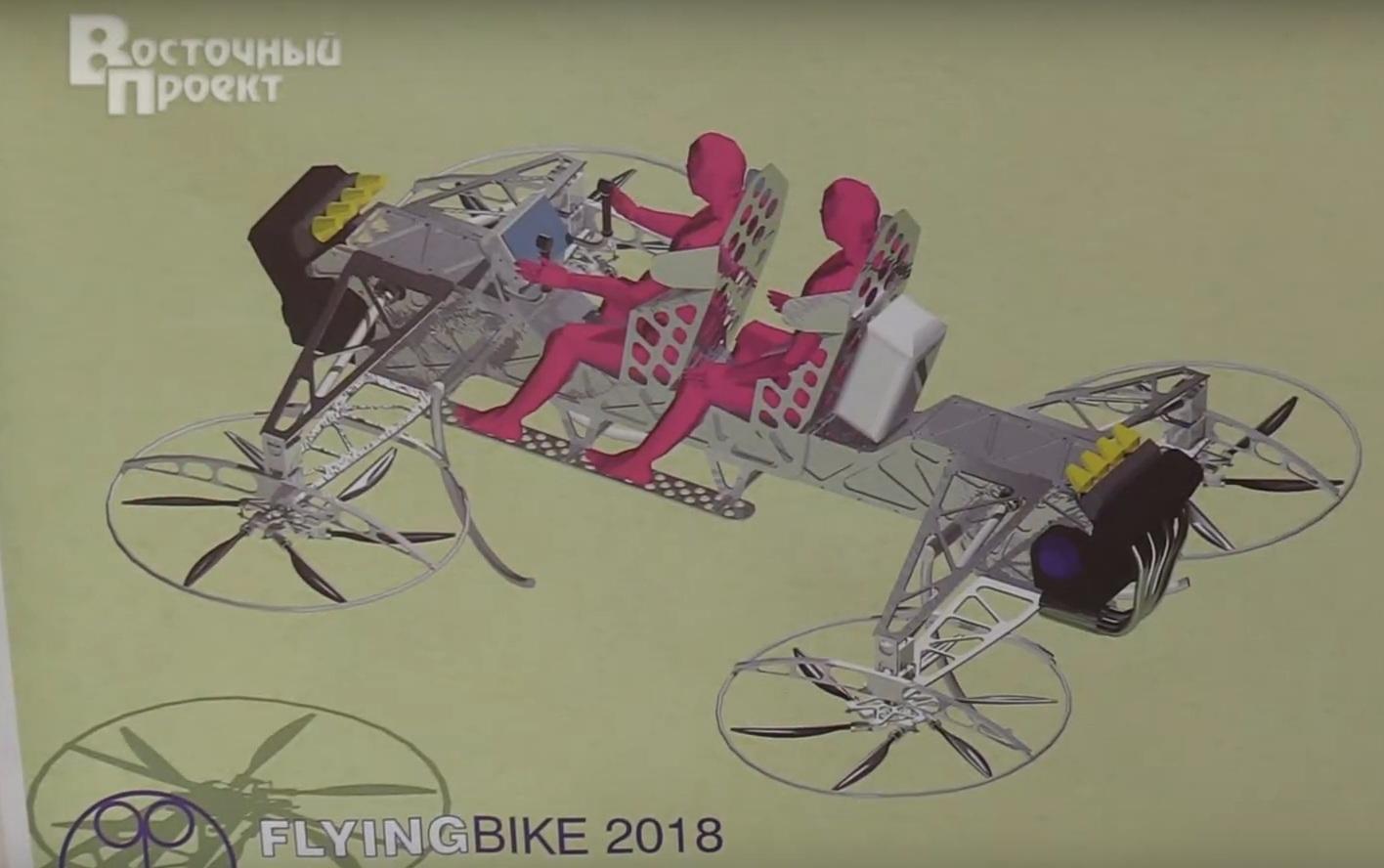 Украинцы создают невероятный летающий мотоцикл