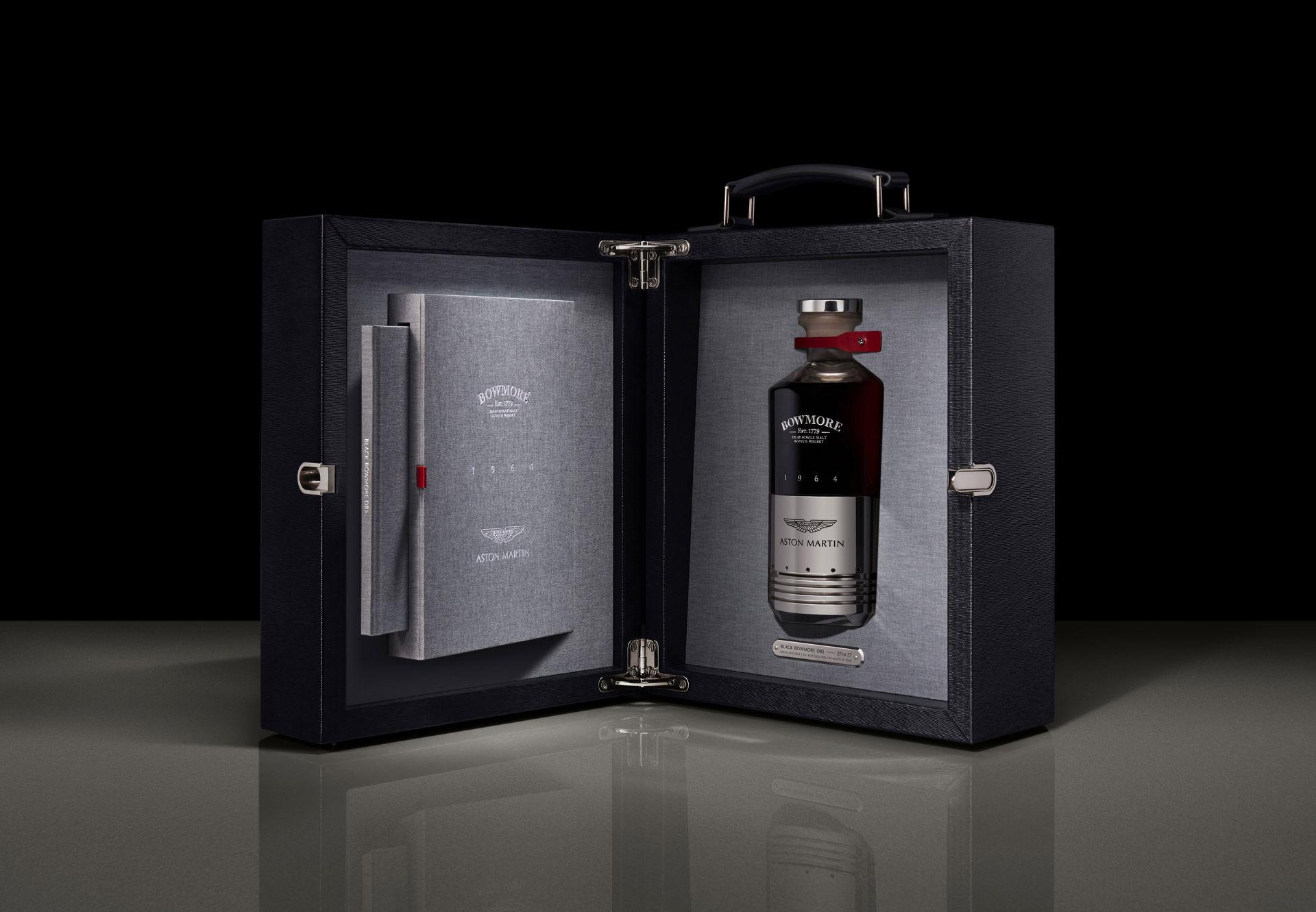Aston Martin выпустил элитный виски в бутылке из поршня