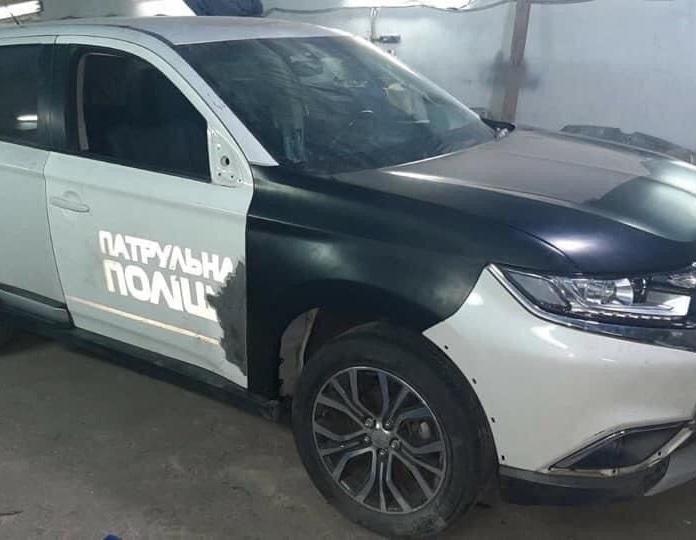 Разбитые патрульные авто идут на запчасти для битых машин из США? (фото)