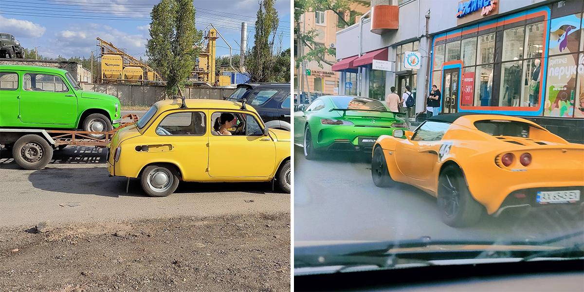 К — контраст на дорогах Украины одной картинкой