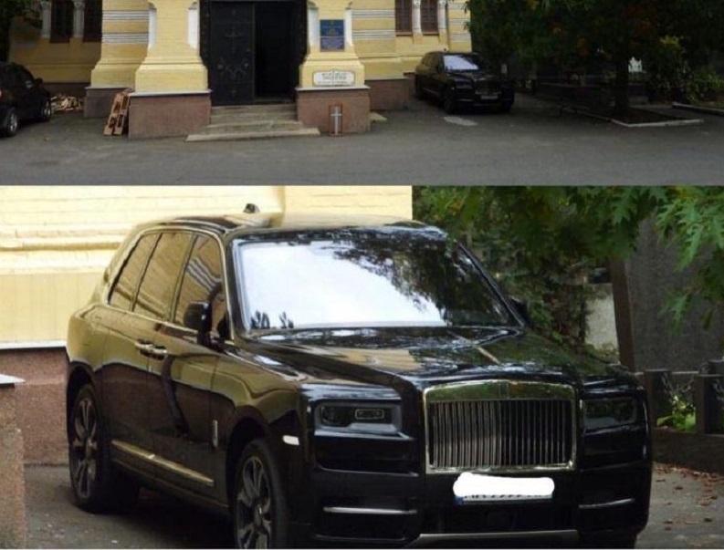 Новость одной картинкой: самый дорогой внедорожник возле церкви в Киеве