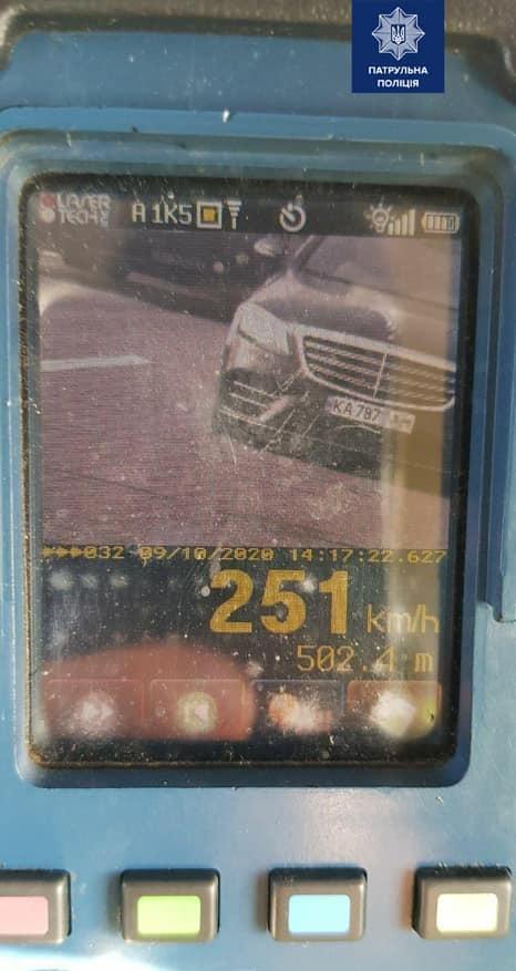 В Украине зафиксировано рекордное превышение скорости