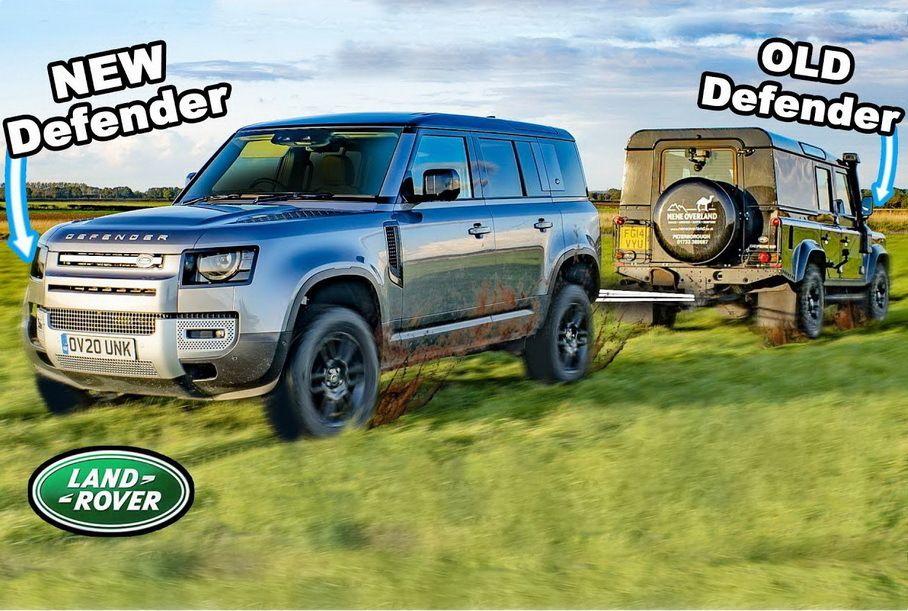 Старый и новый Land Rover Defender сравнили на бездорожье (видео)