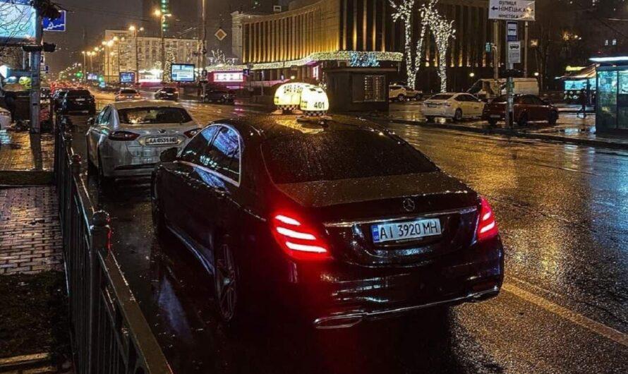Картина маслом: Mercedes S-класса в такси (фото)
