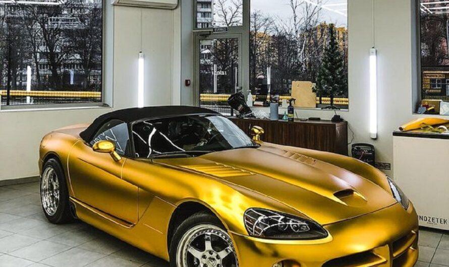 В Украине появился сверхмощный золотой американский авто