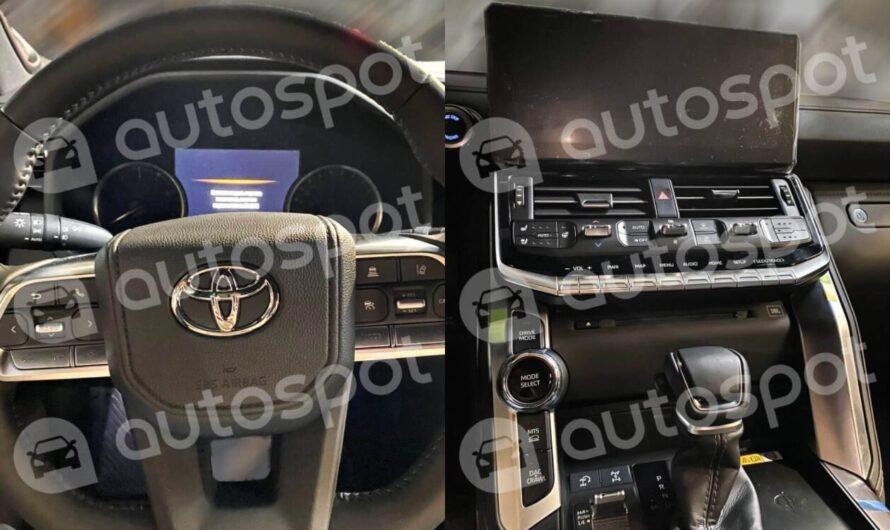 Первые фото салона нового Toyota Land Cruiser 300