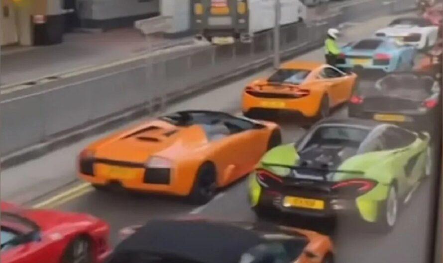 Полиция задержала полсотни нарушителей на элитных суперкарах (видео)