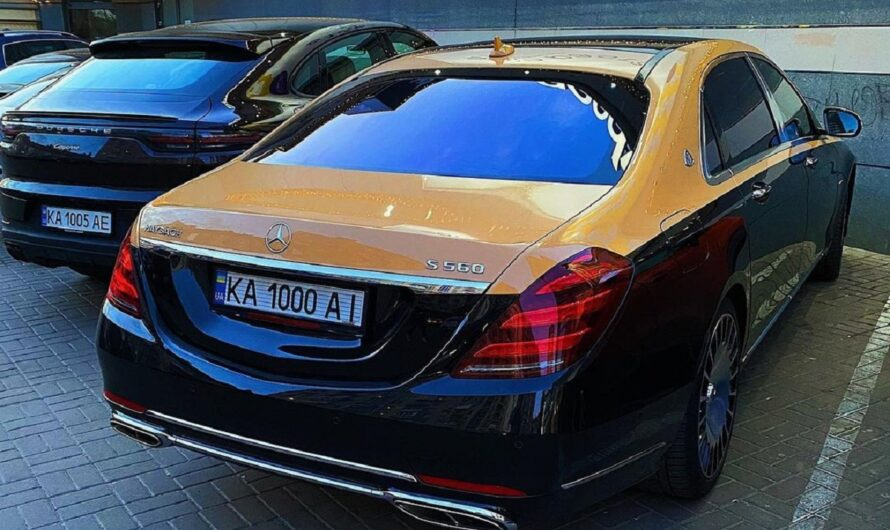 В Украине заметили оригинальный Mercedes-Maybach