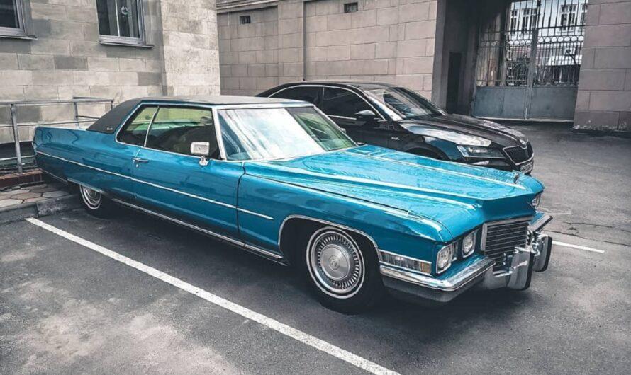 В Украине засняли роскошный американский авто 70-х