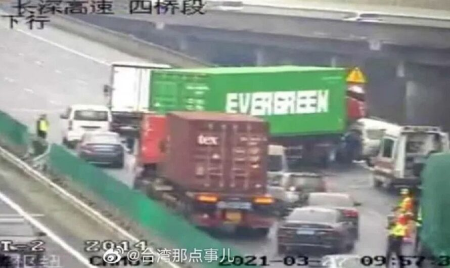 Фура Evergreen повторила «подвиг» контейнеровоза в Суэцком канале