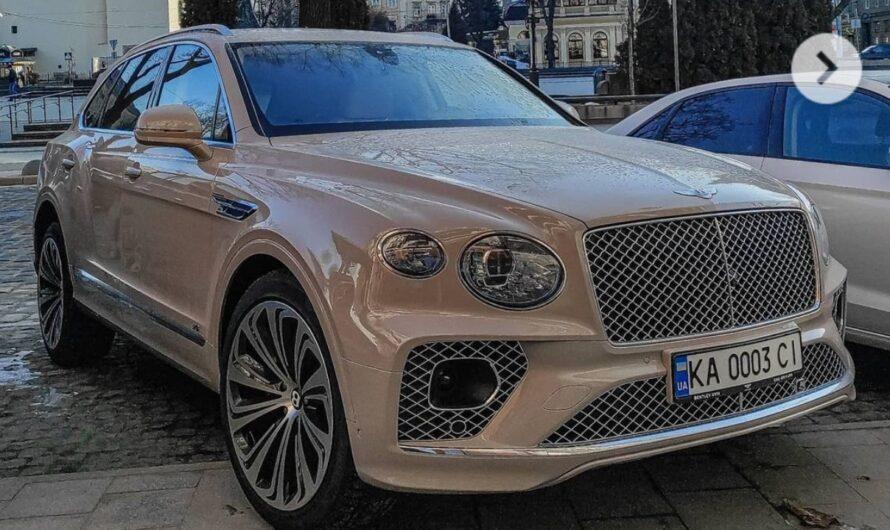 В Украине появился новый внедорожник Bentley Bentayga необычного цвета