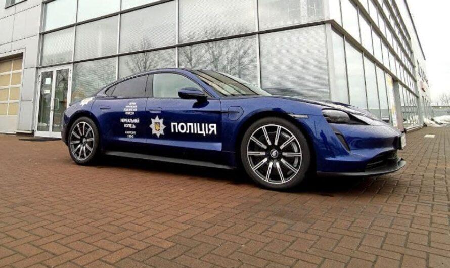 Нереальный КОПец: в Украине засняли полицейский Porsche Taycan (фото)