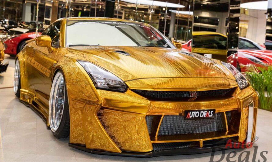 На продажу выставили уникальный золотой суперкар Nissan