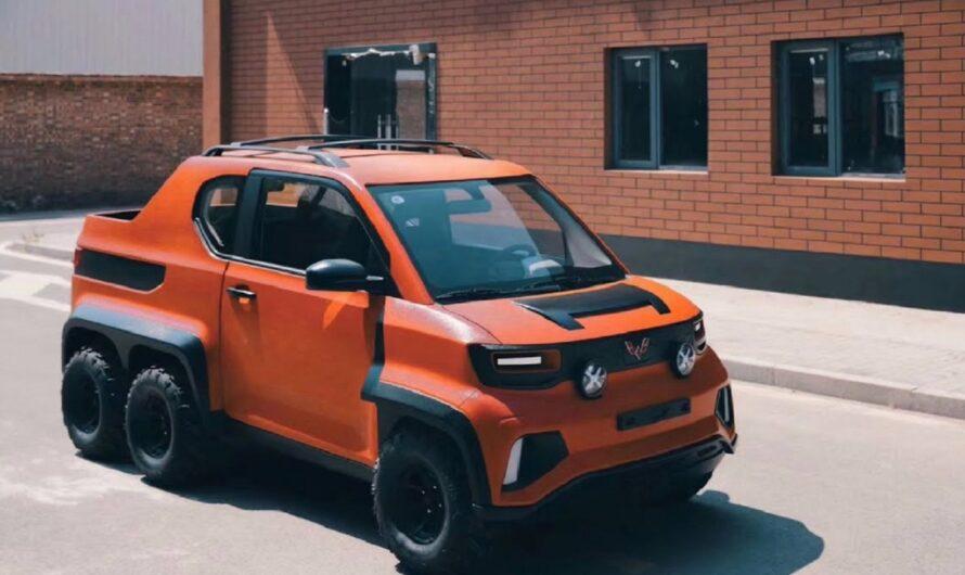 Китайцы показали самый необычный в мире шестиколесный авто