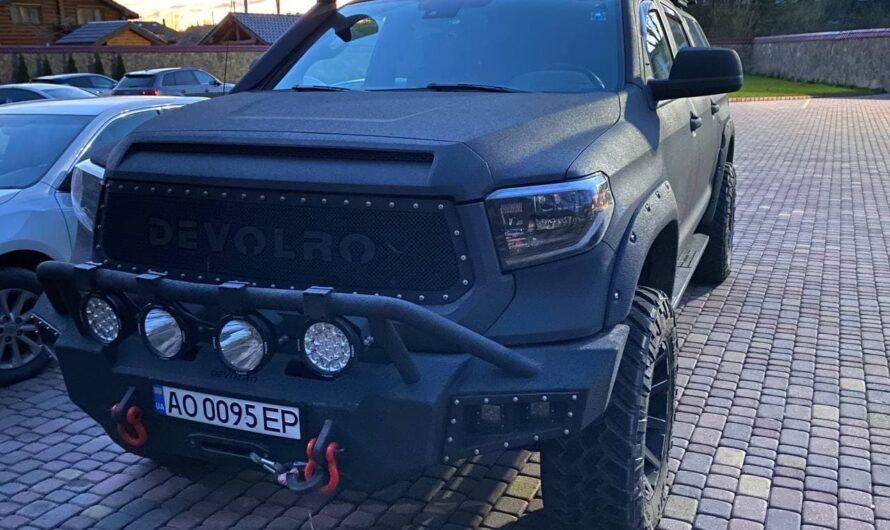 В Украине поймали злоумышленников на впечатляющей тюнингованной Toyota