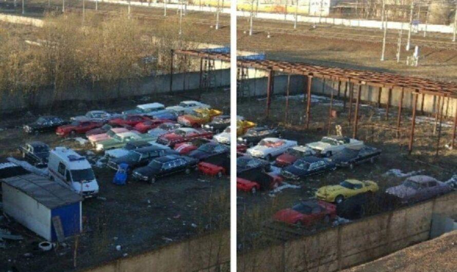 В Питере обнаружили стоянку с заброшенными суперкарами и ретрокарами (фото)