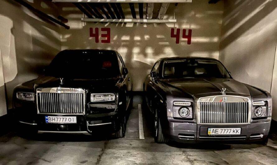 В Украине нашли паркинг с эксклюзивными Rolls-Royce на одинаковых номерах