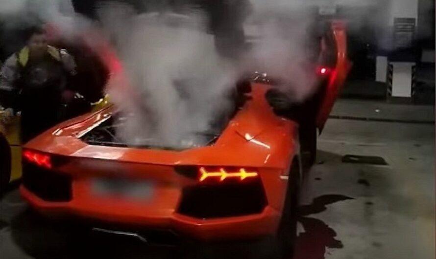 Попытка пожарить мясо на Lamborghini чуть не закончилась трагедией (видео)