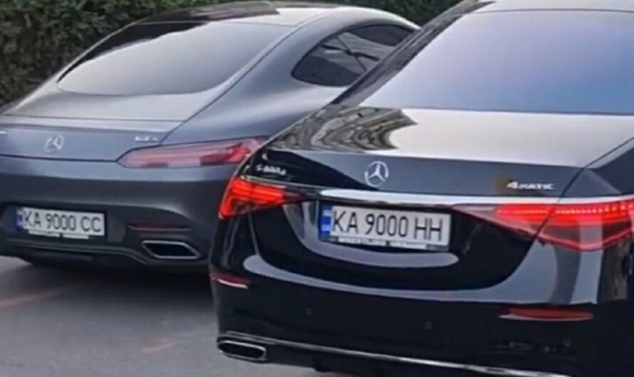 В Киеве засняли сразу 5 автомобилей с одинаковыми номерами