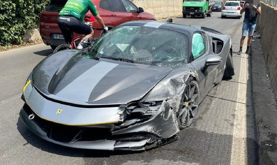 Новейший суперкар Ferrari разбили в ДТП вскоре после покупки