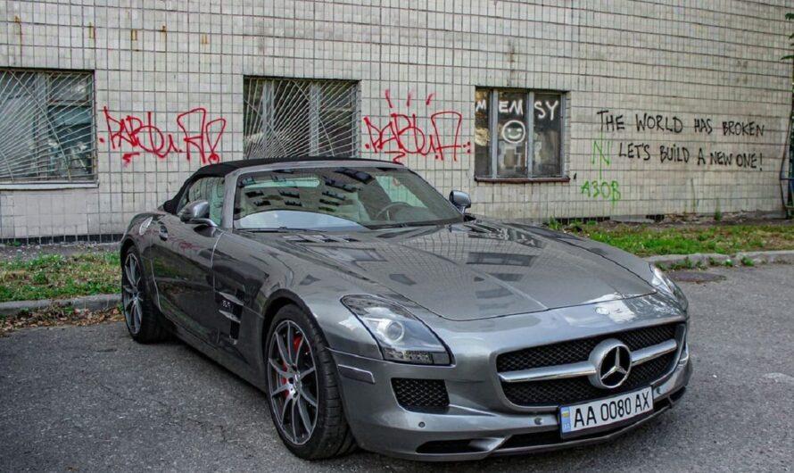 Редкий суперкар Mercedes засветился в киевском захолустье