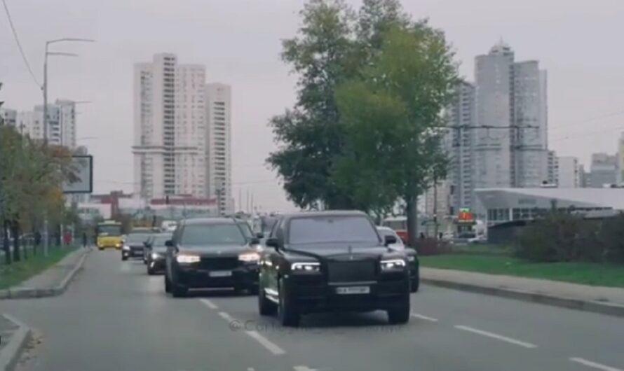 В Киеве засняли невероятный свадебный кортеж на Rolls-Royce и BMW (видео)