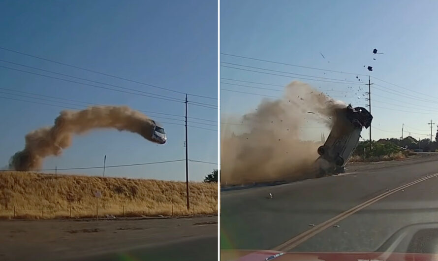 Авария года в традициях Голливуда попала на видео