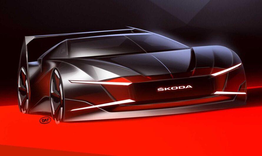 Новейший спорткар Skoda показался на первых изображениях