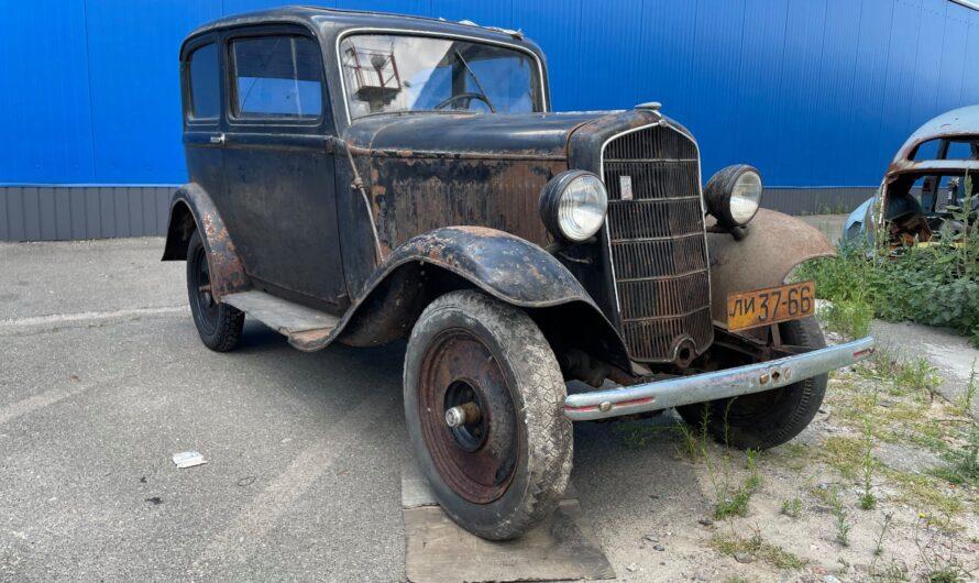 В сарае под Киевом нашли покинутый Opel довоенной эпохи