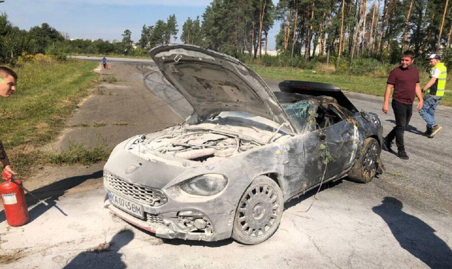 В Киеве на треке разбили редкий кабриолет Fiat Abarth 124 Spider (фото)