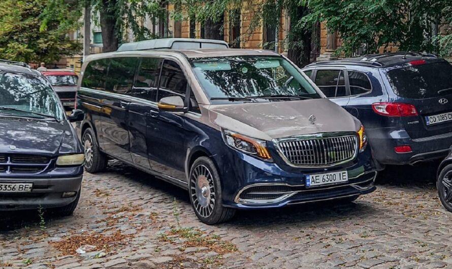 Удлиненный VIP-минивэн Maybach впервые заметили в Украине (фото)