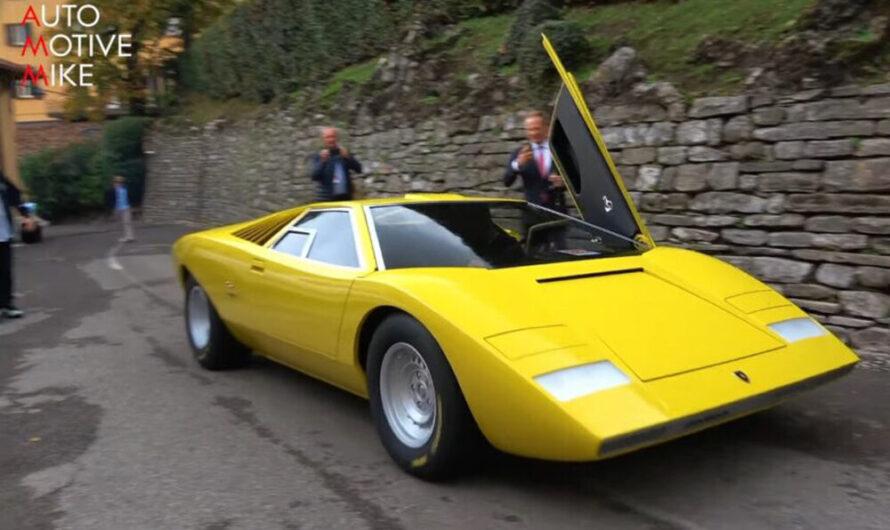 Возрожденную версию культового Lamborghini Countach показали вживую (видео)