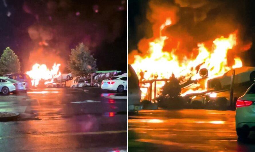 Партия новых Chevrolet Corvette C8 сгорела прямо возле завода GM (видео)