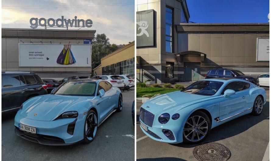 Богатые украинцы все чаще покупают суперкары королевского голубого цвета