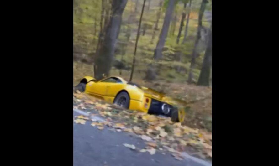 Уникальный гиперкар Pagani Zonda C12 S разбили под Прагой