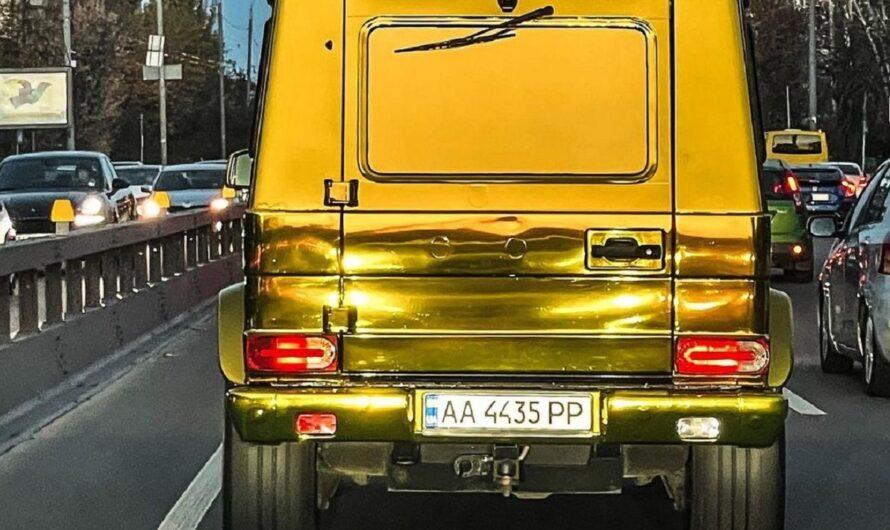 По дорогам Украины ездит полностью золотой Гелендваген (фото)